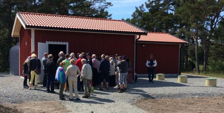 Invigning av Bergs VA på Möja